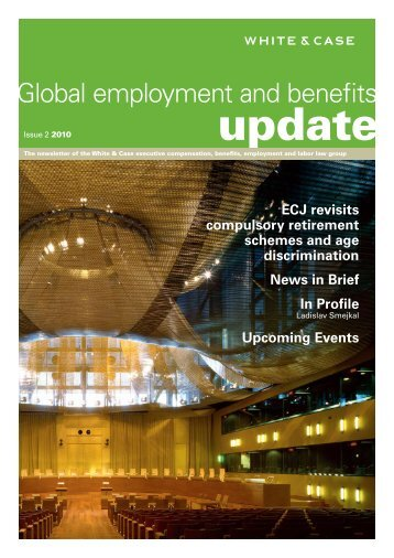 Global employment and benefits - White & Case