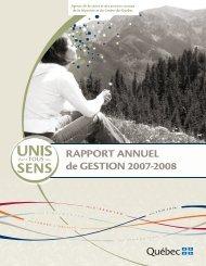 2007-2008 - Agence de la santé et des services sociaux de la ...