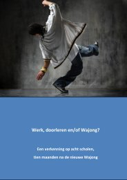 Werk, doorleren en/of Wajong?