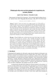 Otimização discreta na determinação de trajetórias de veículos Dubins