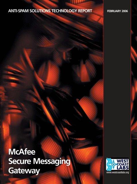 McAfee Secure Messaging Gateway (pdf, 471k) - West Coast Labs