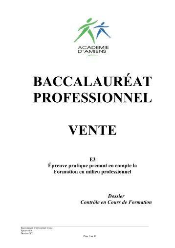 baccalauréat professionnel vente - Economie et Gestion au lycée ...