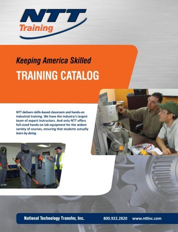 Catalog from NTT Training - NFMT