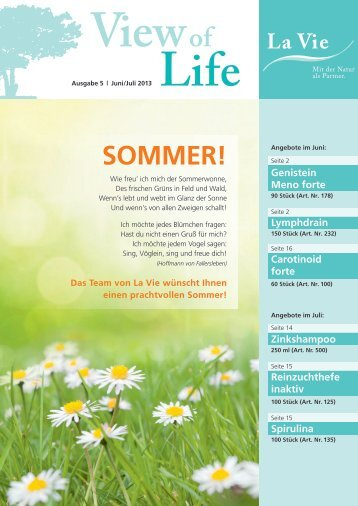 View of Life Ausgabe 5 | Juni/Juli 2013 - La Vie