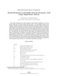Model Reduction in Flexible-Aircraft Dynamics with ... - CFD4Aircraft