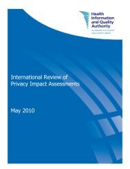 International Review of Privacy Impact Assessments - hiqa.ie