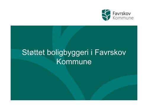 Oplæg fra mødet - Favrskov Kommune