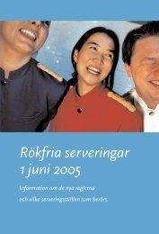 Rökfria serveringar 1 juni 2005 - Visita