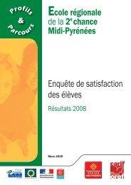 Enquête de satisfaction des élèves - Carif Oref Midi-Pyrénée