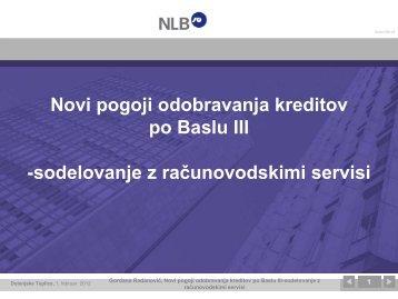 Novi pogoji odobravanja kreditov po BASLU III - GZDBK