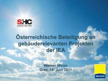 Österreichische Beteiligung an gebäuderelevanten Projekten der IEA
