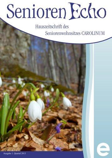 SeniorenEcho 1. Quartal 2013 - Carolinum