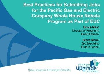 Best Practices for Submitting Jobs for the Pacific - Energy Upgrade ...