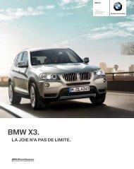 Les équipements option de la BMW X3