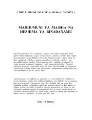 the purpose of life & human dignity - Ven Dr K Sri Dhammananda