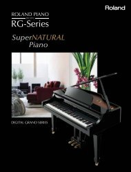 RG-Series - Roland Scandinavia a/s