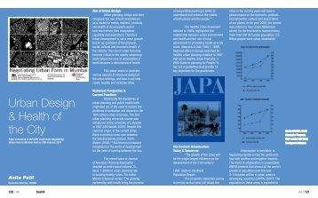 Anita Patil - Urban Design & Health of the City