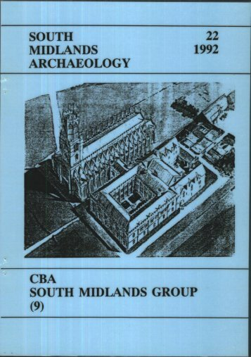 (Or South Midlands) Region - Council for British Archaeology