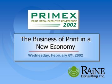 The Business of Print in a New Economy - IDEAlliance