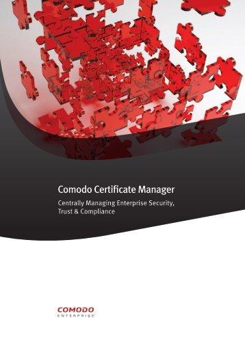 Comodo Certificate Manager - SSL Certificate