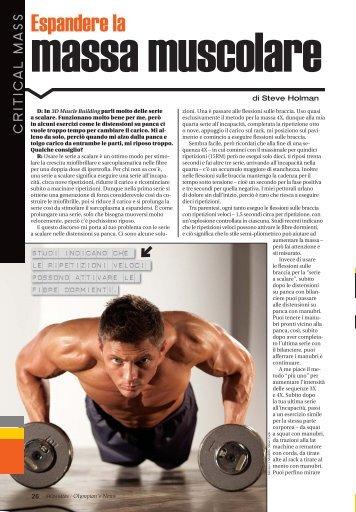 Espandere la massa muscolare (PDF) - Olympian's News