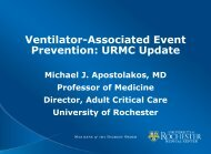 Ventilator-Associated Event Prevention: URMC Update - NYS ...