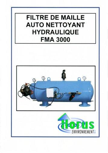 Filtres à tamis autonettoyant FMA3000 - Horus Environnement