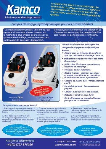 Pompes de rinçage hydrodynamique pour les professionnels - Kamco
