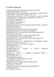 Letöltés - DE Pszichológiai Intézet - Debreceni Egyetem