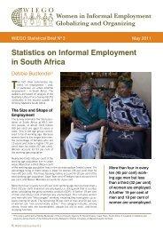 Statistics on Informal Employment in South Africa - WIEGO