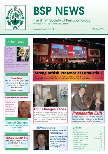 BSP News Winter 2006/7 - the British Society of Periodontology ...