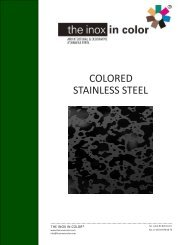 COLORED STAINLESS STEEL - Decorativos