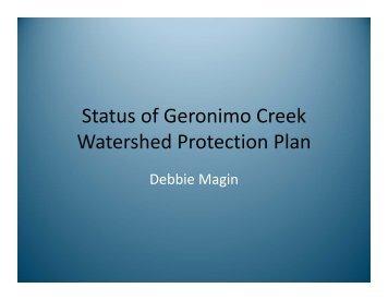 Status of Geronimo Creek Watershed Protection Plan
