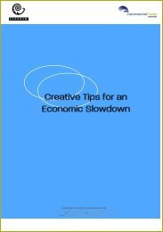 Creative Tips for an Economic Slowdown - Commercial Radio ...