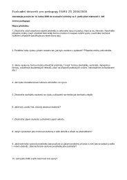 Evaluační dotazník pro pedagogy - FAMU