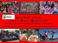 Asian Pacific Islander Preserve America Neighborhoods A CRA/LA ...