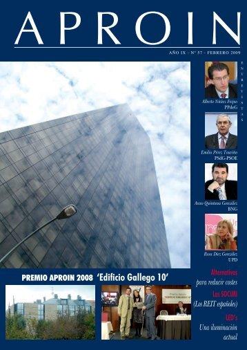 PREMIO APROIN 2008 'Edificio Gallego 10'