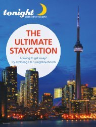 THE ULTIMATE STAYCATION - tonight Newspaper