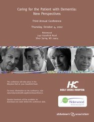 2012 Dementia Conference Info_Layout 1 - Holy Cross Hospital