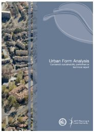 Urban form analysis - technical report - ACT Planning and Land ...