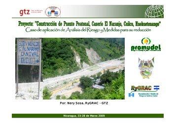 """""""Construcción de Puente Peatonal, Caserío El Naranjo, Cuilco ..."""