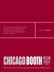 The PhD Program - The University of Chicago Booth School of ...