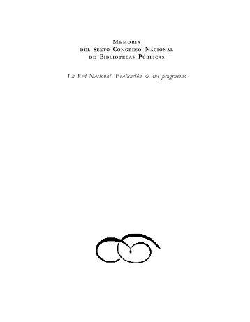 Memoria del Sexto Congreso Nacional de Bibliotecas Públicas