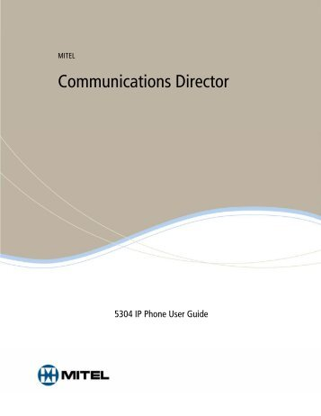 Mitel 5304 User Guide - Southeastern Telecommunication Services