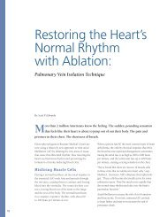 Restoring the Heart's Normal Rhythm with Ablation - Baystate Health