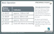 Proprio Quick Reference - Basic Operation - Sps