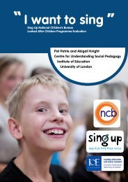 Sing Up NCB Looked After Children Full Report