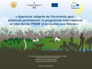 Approche intégrée de l'économie agro‐pastorale ... - Euromontana