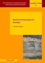 Ressourcennutzung und Geotope - FreiDok
