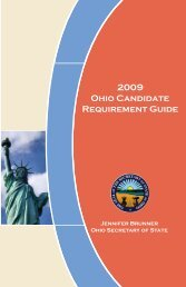 Ohio Candidate Requirement Guide - Franklin County Board of ...